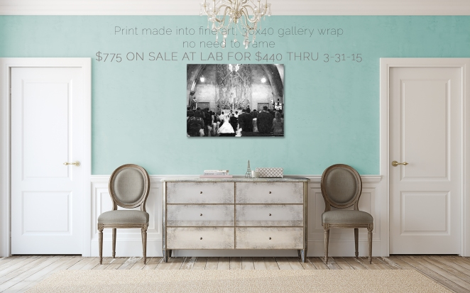 30X40 GALLERY WRAP ON SALE THRU MAR 30