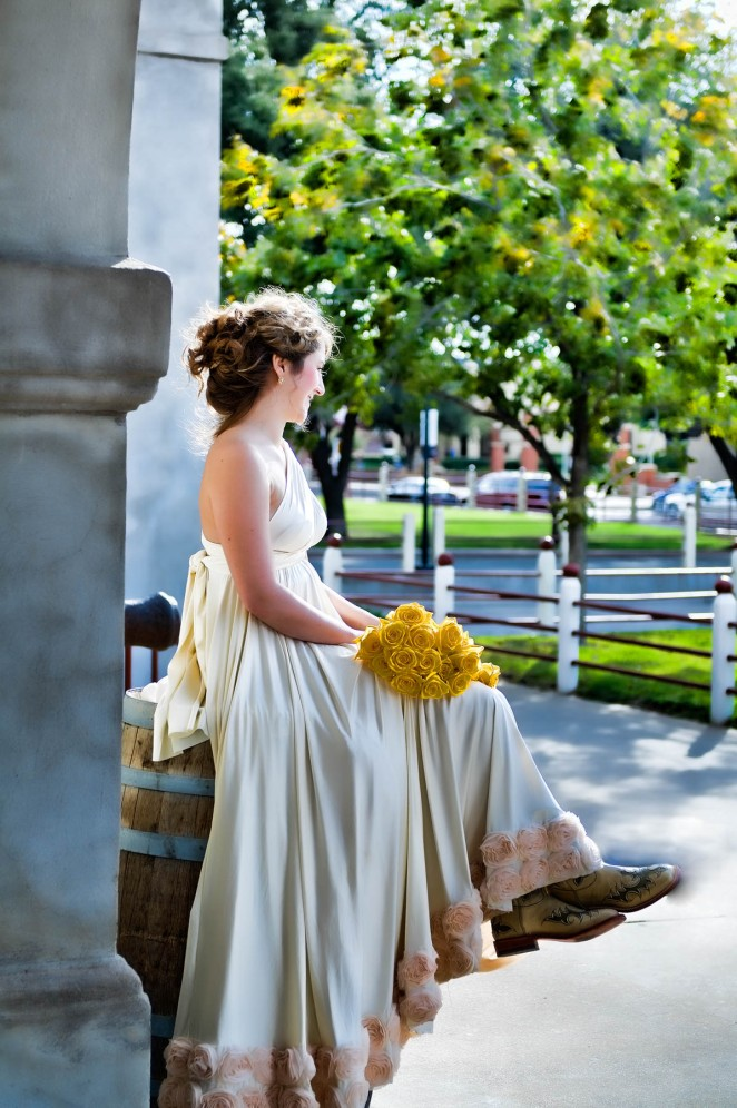 bridal portrait in the fort worth stockyards